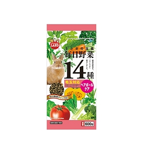 Marukan Hairball Control Food for Rabbit with 14 Kinds of Vegetable 600g