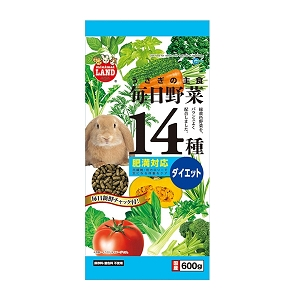 Marukan Diet Food for Rabbit with 14 Kind of Vegetable 600g