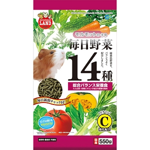 Marukan Diet Food for Guinea Pig with 14 Kind of Veg 550g