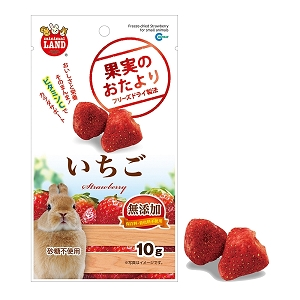 Marukan Freeze Dried Strawberry for Small Animall 10g