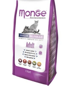Monge Adult Chicken Dry Cat Food 1.5kg