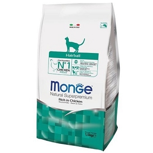 Monge Hairball Chicken Dry Cat Food 1.5kg
