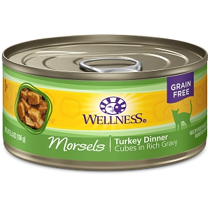 Wellness Canned Cat Complete Health™ Morsels Turkey Dinner