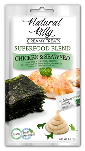 Natural Kitty Creamy Treats, SUPERFOOD BLEND - Chicken & Seaweed