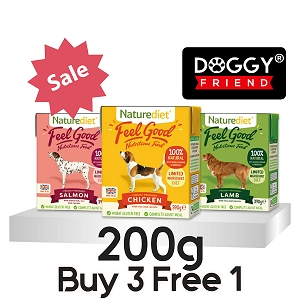 [BUY 3 FREE 1] Naturediet Feel Good Dog Food 200g