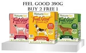 [NEW LAUNCH PROMO - BUY 2 FREE1] Naturediet Feel Good Dog Food 390g