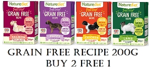 [NEW LAUNCH PROMO - BUY 2 FREE1] Naturediet Feel Good Grain Free Dog Food 200g