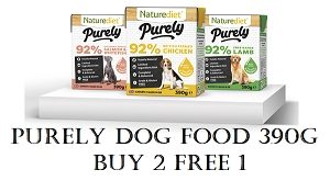 [NEW LAUNCH PROMO - BUY 2 FREE1] Naturediet Purely Dog Food 390g