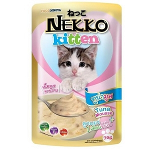 Nekko Tuna Mousse Kitten Pouch Cat Food