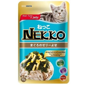 Nekko Tuna With Seaweed & Steamed Egg Pouch Cat Food