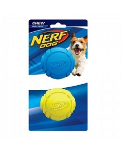 Nerf 2pc Dog Chew Rubber Ball S - Blue/Green