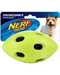 Nerf Dog Crunchable Football S - Green/Red