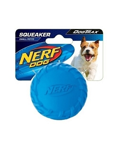 Nerf Dog Squeaker Tire Ball S - Blue/Green