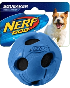 Nerf Dog Squeaker Wrapped Bash Tennis Ball S - Blue/Green