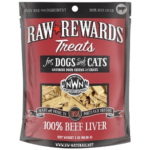 Northwest Naturals Raw Rewards Beef Liver Dog & Cat Treat 3oz