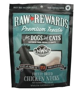 Northwest Naturals Freeze Dried Chicken Neck Cat & Dog Treats 4oz