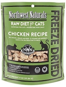 Northwest Naturals Freeze Dried Chicken Recipe Raw Nibbles Cat Food 11oz