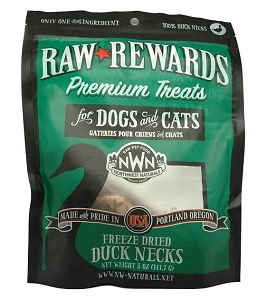Northwest Naturals Freeze Dried Duck Neck Cat & Dog Treats 5oz