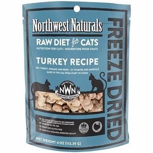 Northwest Naturals Freeze Dried Turkey Raw Nibbles Cat Food 11oz