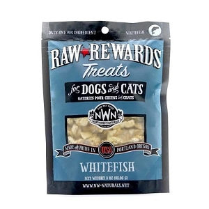 Northwest Naturals Raw Rewards Freeze Dried Whitefish Dog & Cat Treat 3oz