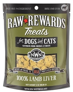 Northwest Naturals Raw Rewards Lamb Liver Dog & Cat Treat 3oz