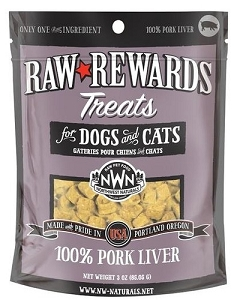 Northwest Naturals Raw Rewards Pork Liver Dog & Cat Treat 3oz