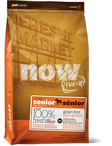 NOW FRESH Grain Free Senior Adult Dry Dog Food
