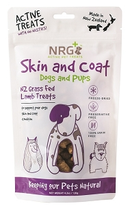 NRG + Active Pet Treats For Skin and Coat conditions (for Dogs and Pups)
