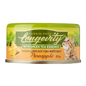 Nurture Pro Canned Longevity Chicken & Skipjack Tuna White Meat with Pineapple and Green Tea Essence Cat Food