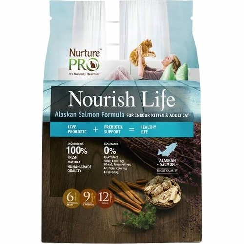 [PROMO till 30th June - 50% OFF 2nd Bag] Nurture Pro Nourish Life Alaskan Salmon Formula for Indoor Kitten & Adult Cat Dry Cat Food