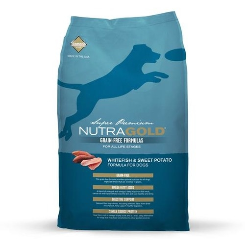 Nutra Gold Grain Free Whitefish & Sweet Potato Dry Dog Food