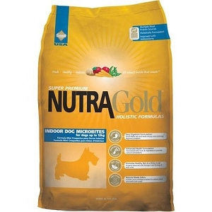 Nutra Gold Holistic Indoor Adult Microbites Dry Dog Food