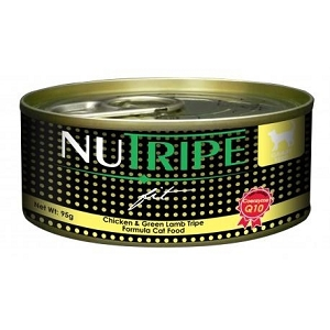 Nutripe Canned Fit Chicken & Green Lamb Tripe + CoQ10 Cat Food 95gm