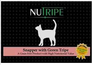 Nutripe Canned Snapper with Green Tripe cat + GLM Cat Food