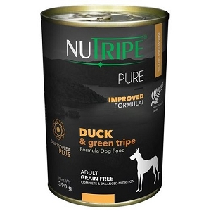 Nutripe Pure Canned Duck & Green Tripe 390gm