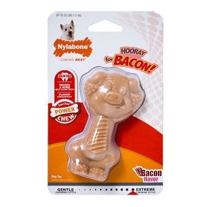 Nylabone Bacon Flavoured Power Chew Pig Chew Toy