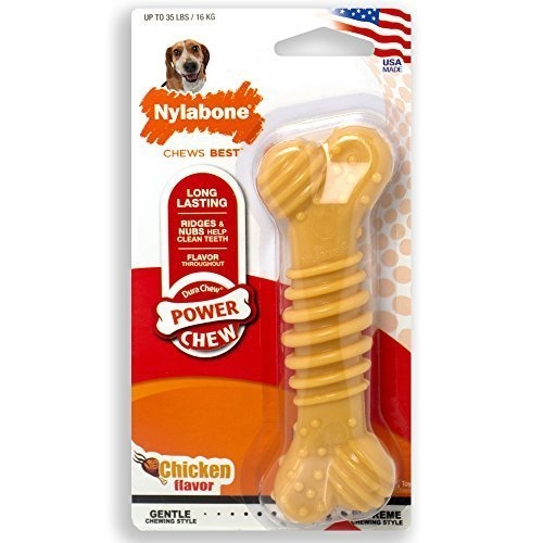 Nylabone Chicken Flavour Dura Chew Textured Bone Toy