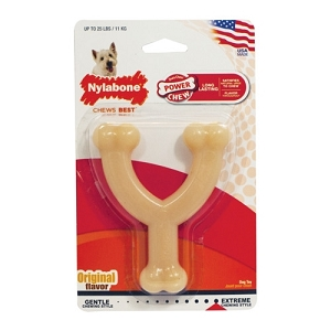 Nylabone Original Flavour Power Chew DuraChew Wishbone Chew Toy