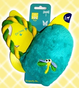 Pet Brands Dragonfly Heart Tug Plush Toy