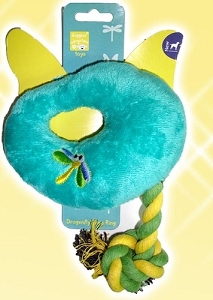 Pet Brands Dragonfly Rope Ring Plush Toy