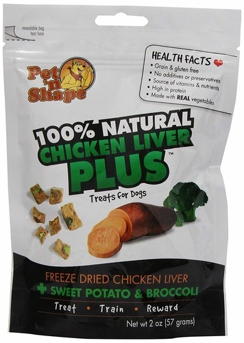 Pet N Shape Freeze Dried Chicken Liver PLUS Sweet Potato & Broccoli Cat Treats