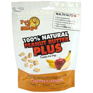 Pet N Shape Freeze Dried Peanut Butter with Apples & Bananas