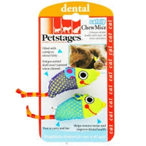 Petstages Catnip Chew Mice Toy