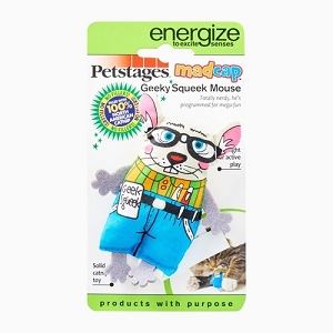 Petstages Geeky Squeak Mouse Cat Toy