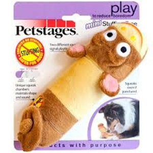 Petstages Mini Stuffing Free Squeak Animal Toy