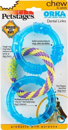 Petstages ORKA Triple Dental Links Chew Toy