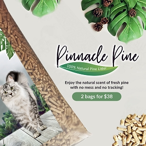 Pinnacle Pine – 100% Natural Pine Litter (20kg x 2)