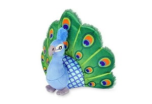 P.L.A.Y Fetching Flock Plush Dog Toy - Percy the Peacock