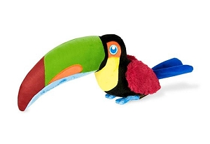 P.L.A.Y Fetching Flock Plush Dog Toy - Tito the Toucan
