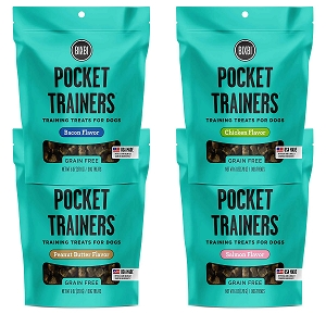 Bixbi Pocket Trainers Grain Free Soft & Chewy Dog Training Treats